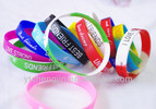 CMYK or screen printed bracelet silicon , printing logo wristband