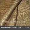 Superior polyester viscose logo fabric/polyester viscose lining fabrcs