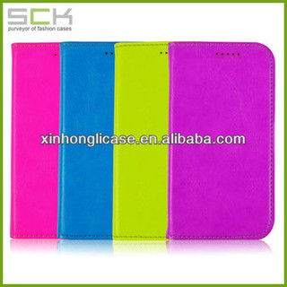 hot selling florescence light color leather phone case for samsung galaxy 4/s4