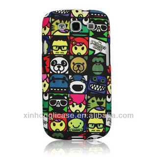2013 hot-selling double - deck cases for samsung galaxy s3/9300 with cartoon pattern