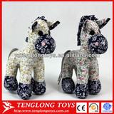 Chinese NEW DESIGN plush fabrics horse toy stuffed horse toy for kids
