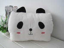 New design white panda Plush warm hand pillow hand warming pillow in winter