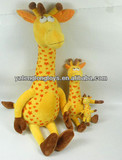Yellow giraffe plush toy giraffe Toy Plush Stuffed Animal 13 Inch by Wildlife Artists Gift