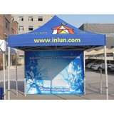 10x10 Custom printed pop up canopy tent with optional side walls and back walls