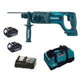 Makita BHR241Z 18 Volt Cordless SDS+ Rotary Hammer with 2 Batteries and Charger