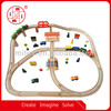 57pcs Wooden railway set toy from ICTI factory