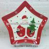ceramic christmas decorative star shapes plates for xiamen star craft