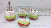Ceramic christmas snow man design bath gift sets wholesale