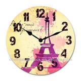 11 inch eiffel tower mdf clock