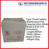 Wanli battery Electric vehicle power battery 6V 210Ah Maintenance-free