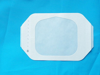 medical hypoallergenic transparent Medical disposable PU wound dressing with frame A0607M