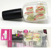 Press on nail art set with plastic nail polish bottle