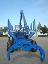 1T-12T CE Log Loading trailer with Crane