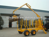 1T-12T CE Forestry Loading trailer with Crane