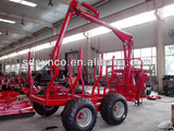 CE 1T-12T Forestry Loading trailer with Crane