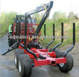 1T-12T Forestry Loading trailer with Crane CE Certificated