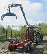 1T-12T Wood Loading trailer with Crane CE Certificated