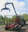 CE 1T-12T Log Loading trailer with Crane