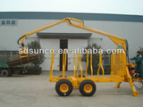 CE Timber Loading trailer with Crane