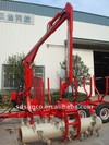 CE Timber Loading trailer with Crane made in China