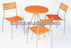 Plastic Steel Dining Chair And Table