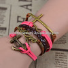 2014 leather bracelets diy leather bracelet
