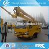 Isuzu double raw cab 16M hydraulic lift platform truck