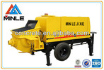 Stationary concrete pump with diesel engine