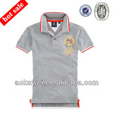 2014 new fashion polo shirt for mens in 100%cotton with embroidery