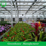 glass greenhouse with heating system