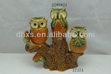 Ceramic owl home decoration and candle holders