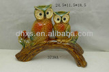 Porcelain owl animal decoration