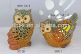 Owl home decorations for T light candle holders
