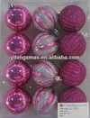 plastic christmas ball hot for sale for 12pk