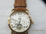 fashion gift real leather eta automatic watch movement