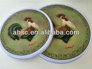 beautiful round coffee tin tray