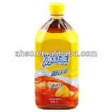 1L big bottled ice black tea drink with lemon juice