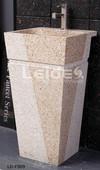Granite pedestal sink bathroom freestanding sink
