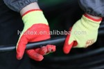 Cheap latex coating glove with high quality