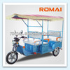 ROMAI 48V 850W battery auto rickshaw with CE approved, serve for passenger,e-tricycle, e-vehicles.