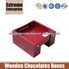 Rich Mahogany Handmade Chocolate Wooden Boxes