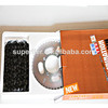 best quality c 45 carbon steel sprocket and chain kit