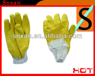 "8"" 10"" latex coated safety glove"