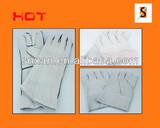 short reinforced palm cow split leather welding gloves