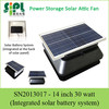 Power Storable Rechargeable All Purpose Solar Attic Exhaust Ventilation Fan
