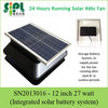 Solar Attic Ventilation Fan with Power Storable Rechargeable Solar Battery System