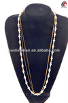 2014 Best quality multi-layer chain long gold plated gold jewelry