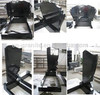 shanxi black granite cremation headstone tombstone monument for sale
