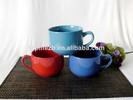T1113 Promotional Wholesale Bulk Colored Soup Ceramic Cups Mugs