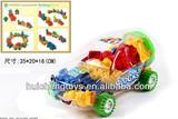 Educational locomative plastic building blocks toys